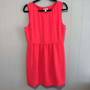 J Crew bright coral sleeveless dress